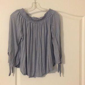 Sassy blue & white top
